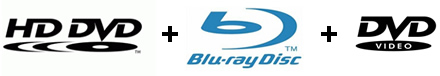 Blu-Ray + HD-DVD + DVD